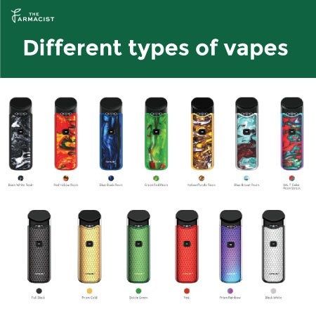 Different types of vapes
