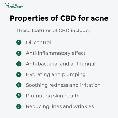 properties of cbd for acne