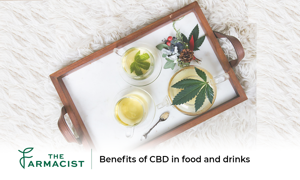 Benefits of CBD in food and drinks