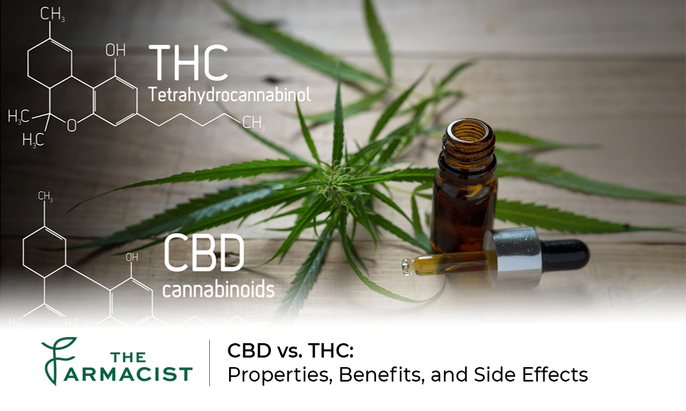 CBD vs. THC: Properties, Benefits, and Side Effects